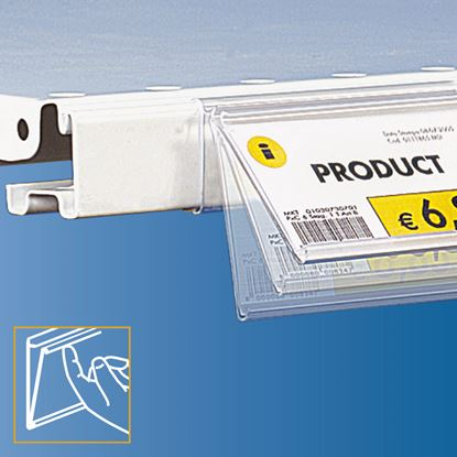 Picture of FLIP-UP DATASTRIP FOR CEFLA SYSTEM25 SHELF - LABEL H.MAX 32 MM - WITH FINGER HOOK