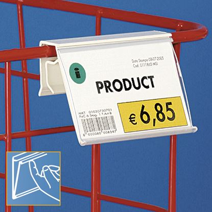 Picture of DATASTRIP FOR WIRE BASKETS, GLASS, WOOD OR METAL FRONT - LABEL H.MAX 40 MM