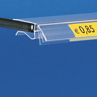 Picture of FLIP-UP DATASTRIP FOR GLASS SHELVES - LABEL H.MAX 17 MM