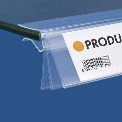 Picture of FLIP-UP DATASTRIP FOR GLASS SHELVES - LABEL H.MAX 32 MM