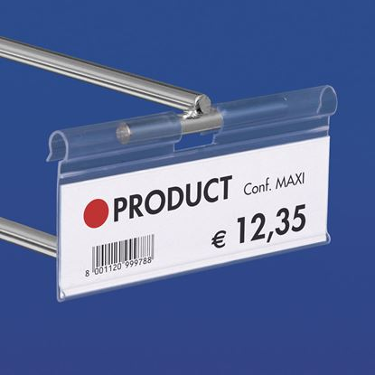Picture of EXTRUDED LABEL HOLDER - CENTRAL CUT 10 MM - FRONT OPENING - Label H.MAX 26 MM