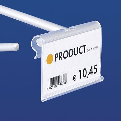 Picture of EXTRUDED LABEL HOLDER - CENTRAL CUT 9 MM - FRONT OPENING - Label H.MAX 32 MM