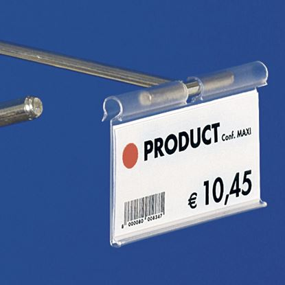 Picture of EXTRUDED LABEL HOLDER - CENTRAL CUT 11 MM - FRONT OPENING - Label H.MAX 39 MM