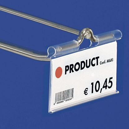Picture of EXTRUDED LABEL HOLDER - CENTRAL CUT 22 MM - FRONT OPENING - Label H.MAX 39 MM