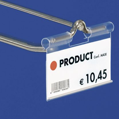 Picture of EXTRUDED LABEL HOLDER - CENTRAL CUT 22 MM - REAR OPENING - Label H.MAX 39 MM