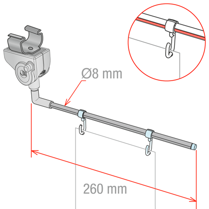 Picture of SWING III SWINGING FOR WIRE SHELVES
