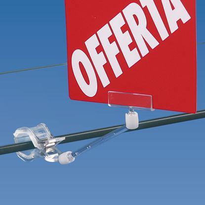 Immagine di PORTA MESSAGGIO (50 MM) CON PINZA MEDIA CON GOMMA ANTISDRUCCIOLO
