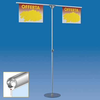 Picture of TELESCOPIC ALUMINIUM MAJOR STAND WITH 2 FAST CLIP ARMS