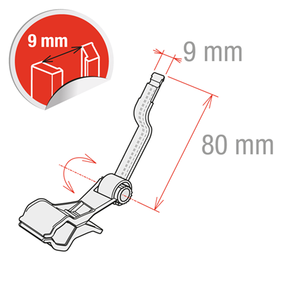 Picture of MEDIUM CLAMP WITH SHAPED STEM